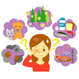 通年性アレルギーの原因は?