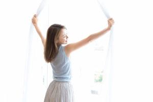 自律神経改善のために朝カーテンを開けましょう