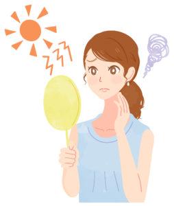 夏の日焼け