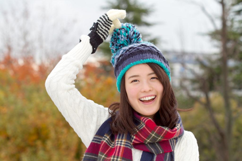 冬のファッションも冷え対策を