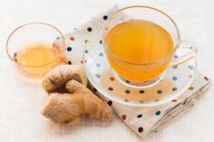 冷えた体を温めてくれる、ハチミツ入りの生姜湯