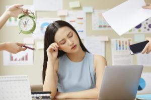 ストレスが疲れやすい原因の人