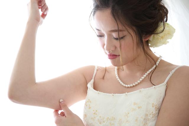 二の腕が気になる花嫁